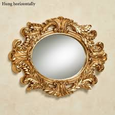 Wall Mirrors Angelic Acanthus Aged Gold Oval Wall Mirror