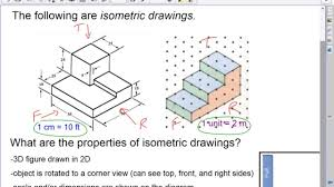 isometric vs orthographic drawings youtube