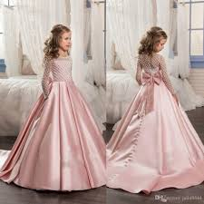 pink dress for wedding sleeve flower dresses for weddings gown