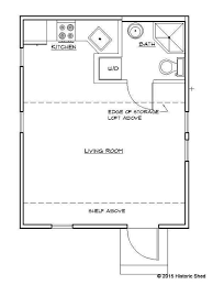 historic shed tiny cottage floor plan 320 sq ft 16 u0027 x 20 u0027 love