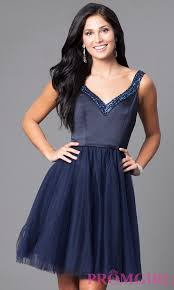 navy blue mori lee short party dress promgirl