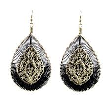 black dangle earrings brincos grandes vintage earrings indian jewelry bijoux dangle
