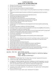 Hvac Installer Job Description For Resume by Qaqc Mep Hvac Inspector