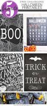 chalkboard halloween free printables are cute easy and simple