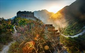 great wall of china sunset wallpaper hd wallpapers