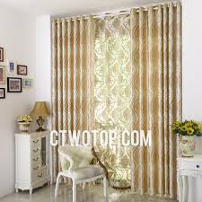Asian Curtains Chic Gold Patterned Asian Luxury Simple Curtains On Sale