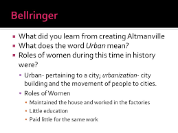 what did you learn from creating altmanville what does the word