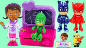 pj masks visit doc mcstuffins toy hospital catboy gekko owlette