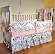 baby bedding pink and grey crib bedding baby bedding set