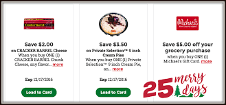 kroger 25 merry days high value coupons for cracker barrel