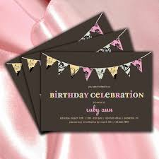 Invitation Cards For 25th Wedding Anniversary Cute Rectangular Shaped Card With Brown Birthday Celebration
