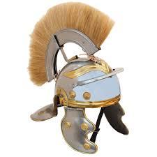 imperial roman centurion helmet with blonde plume 5g5 in2276
