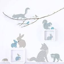 wall decals woodland animals color the walls your house wall decals woodland animals stickers koko kids notonthehighstreet