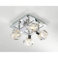classy 20 bathroom ceiling lights crystal square decorating