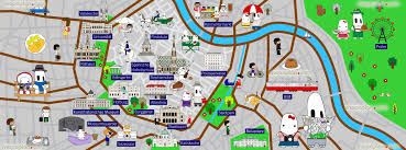 Maps For Kids Vienna Map Colourful Map For Children Great Family Things To