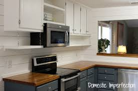 kitchen cabinet with microwave shelf open kitchen shelving domestic imperfection