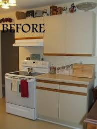 Update Kitchen Cabinet Doors Cabinet Door Update From 80 S Melamine To Modern Country