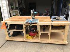 Hobby Bench Plans Mobile Workbench With Built In Table U0026 Miter Saws Mobile