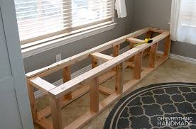 Woodworking Plans Kitchen Nook by How To Build A Kitchen Nook Bench Oh Everything Handmade