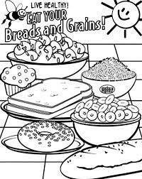 healthy food in bowl coloring pages coloring sun