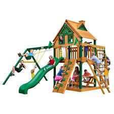 backyard discovery mount mckinley cedar swing set 1705012com the