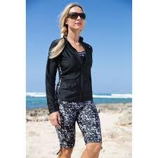 womens long swim shorts upf shorts uv skinz