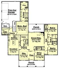 southern style house plan 4 beds 2 50 baths 2800 sq ft plan 430 36