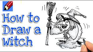 learn how to draw a halloween witch real easy for kids and