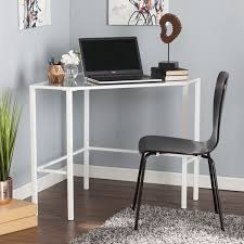 Overstock Corner Desk Blvd Kemble Metal Glass Corner Desk White Free Shipping