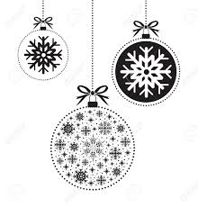 black and white christmas ball ball royalty free cliparts vectors