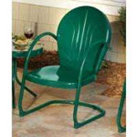 Green Patio Chairs Retro Patio Furniture Metal Glider Just Like You Remember