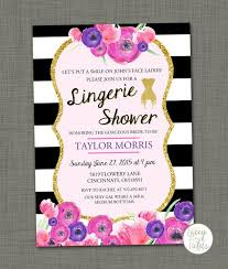 Lingerie Party Invitations Lingerie Shower Invitation Gold Black And White Vintage Lingerie