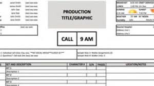Sheet Templates A Free Call Sheet Template To Get Your Crew On The