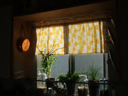 Orange Kitchen Curtains by Kitchen Accessories Kitchen Half Window Curtains With Orange