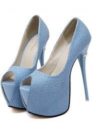 light blue womens dress shoes light blue peep toe platform stiletto high heel pumps 036237