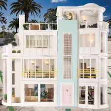Beach House Furniture by Malibu Beach House Kit The Hippest Modern Dollhouses And