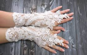 white lace wedding gloves shiny beaded top sellers lace mittens