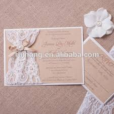 burlap and lace wedding invitations rustic burlap and lace wedding invitation ivory invitation with