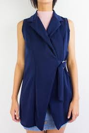 Navy Blue An by It U0027s An Investment Vest In Navy Blue U2013 Peep Boutique