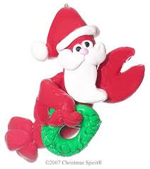 personalized santa claws lobster christmas ornaments