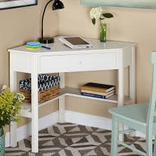 laptop desk for small spaces simple living antique white wood corner computer desk white wood