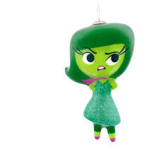 Hallmark Halloween Ornaments by Hallmark Disney Inside Out Disgust Decoupage Ornament Walmart Com