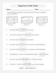 use the scales to determine the volume of water in a set of fish
