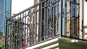 modern black metal spindles for exterior rails can be decoration