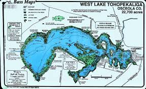 Maps Orlando by Lake Toho Map Orlando Bass Guide