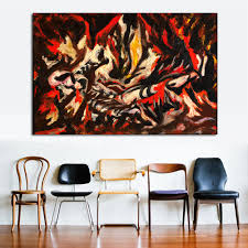 Canvas Painting For Home Decoration by Online Buy Wholesale Jackson Pollock Canvas From China Jackson