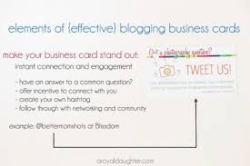 Networking Business Card Examples Blogging Business Cards