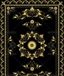 Black Persian Rug Interesting Gold And Black Rug Modern Design Ornament Oriental