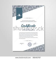 certificate diploma design template vector stock vector 287714012