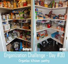 Organizing Kitchen Pantry - 30 day organization challenge day 30 organize food pantry